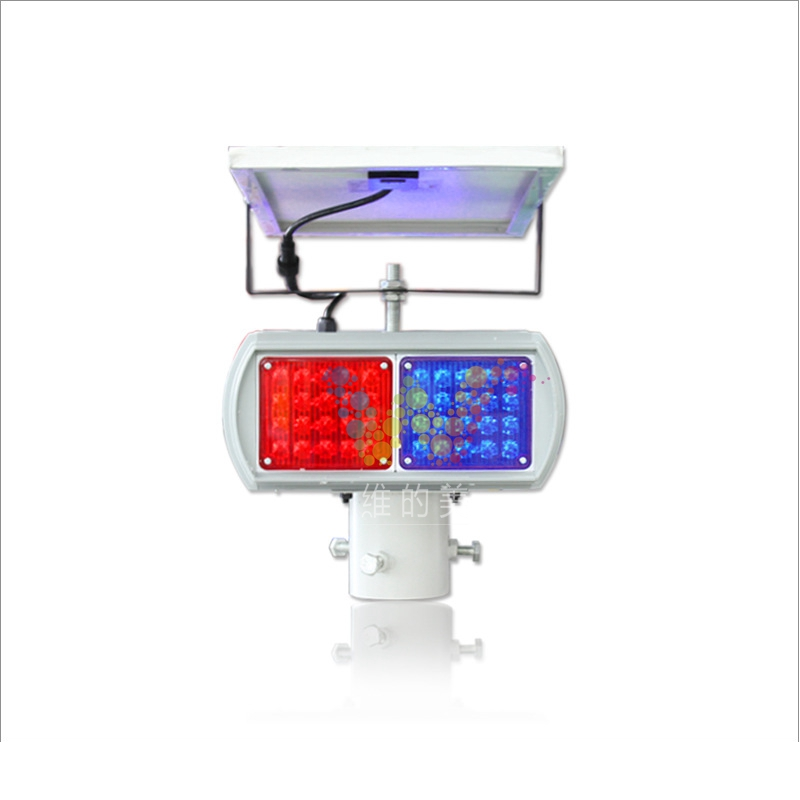 Factory Supplier Solar Powered Road Safety Blinker Strobe 4 Modules Flashing Warning Light