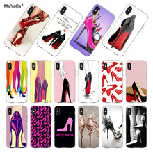 MaiYaCa red high heel shoes transparent soft tpu phone case cover for iPhone  8 7 6S c4840e488d55