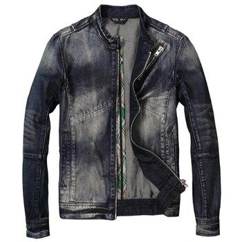 All Seasons Men's Motorcycle Denim Jacket Youth Man Jacket Riding Jeans Jacket and Coats Streetwear 3XL Biker Overcoat Men C2082