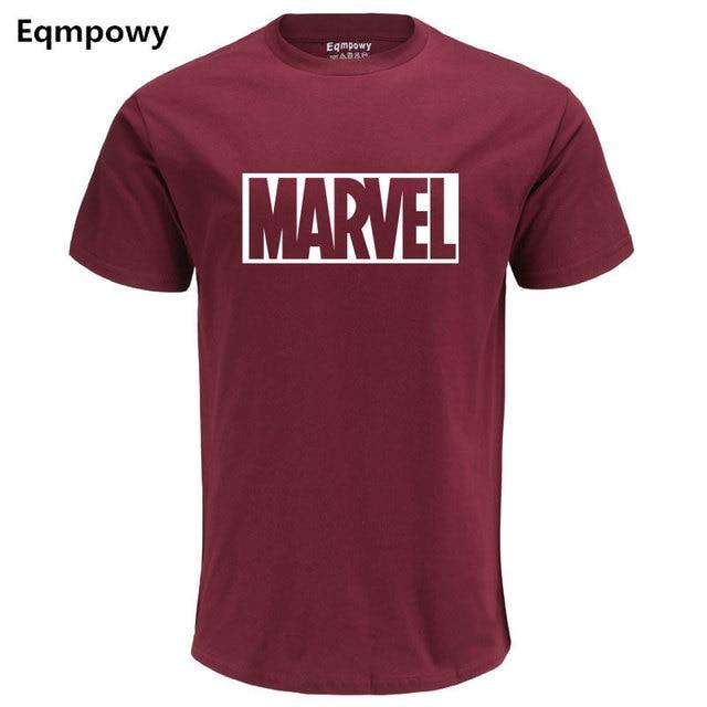 Eqmpowy 2017 Mới Thời Trang MARVEL t-shirt người đàn ông bông ngắn tay áo Casual áo thun nam marvel t áo sơ mi nam tops tees Miễn Phí vận chuyển