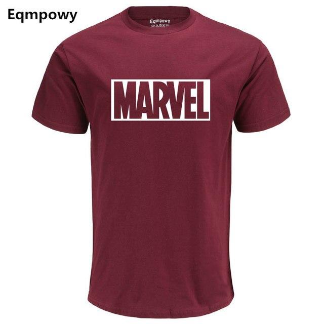 Eqmpowy 2017 Neue Mode MARVEL t-Shirt männer baumwolle kurzen ärmeln Casual männlichen t-shirt marvel t shirts männer tops tees Freies verschiffen