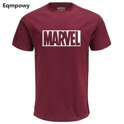 Eqmpowy 2017, Новая мода MARVEL футболка хлопок Короткие рукава Повседневное мужской футболки marvel футболки мужские футболки Бесплатная доставка