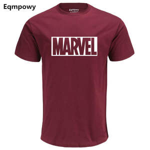 Eqmpowy t-Shirt cotton male tshirt marvel t shirts men