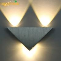 Modern Led Wall Lamp 3W Aluminum Body Triangle Wall Light For Bedroom Home Lighting Luminaire Bathroom