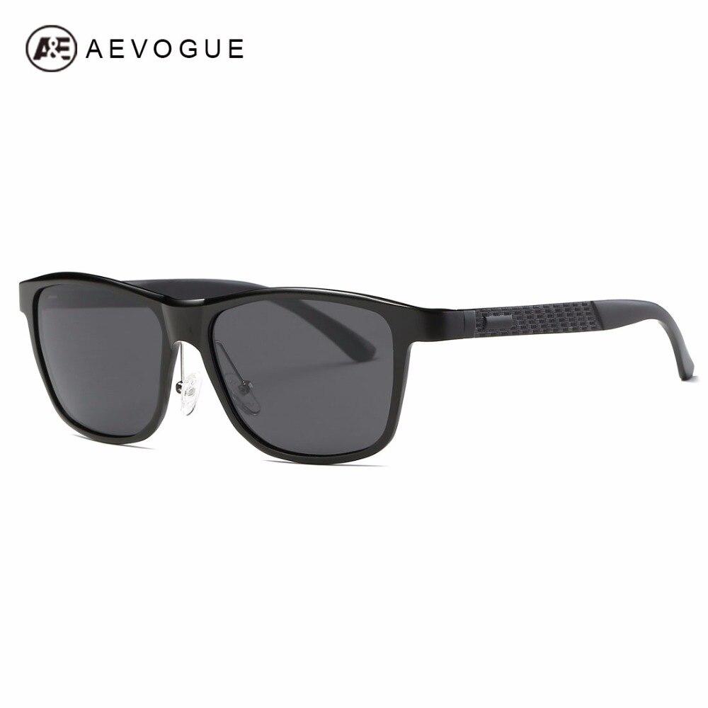 AEVOGUE Polarized Sunglasses Men Aluminium Magnesium Frame Classic Brand Designer Unisex Sun Glasses UV400 AE0555