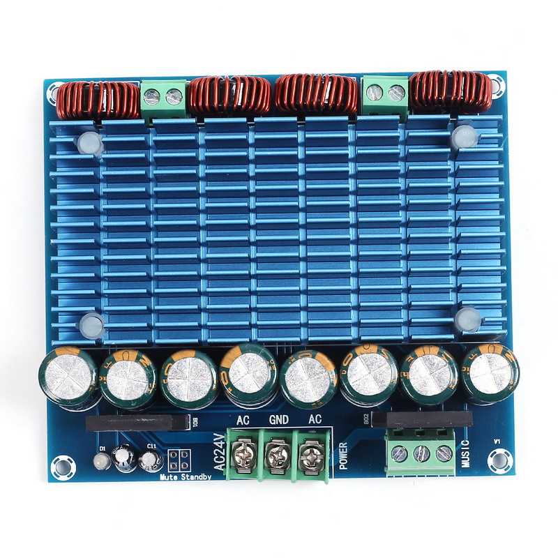 Ultra High Power Digital Amplifier Module AC 24V Stereo TDA8954TH Dual Chip 2x420W XH-M252 Digital Power Amplifier Board