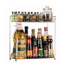 HIPSTEEN dos capas de acero inoxidable desmontable estante hogar cocina condimento organizador-plata