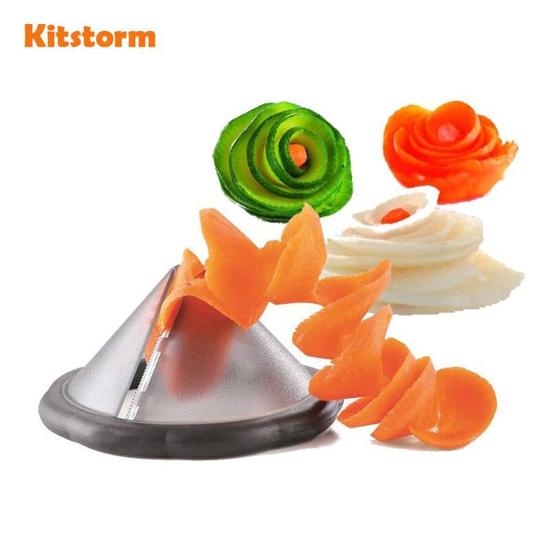 Creative Kitchen Gadgets Vegetable Spiral Slicer Carrot Spiralizer Cutter Tool Kitchen Accessories Cooking Tools|vegetable cleaning|vegetable storagevegetable slicer machine - AliExpress