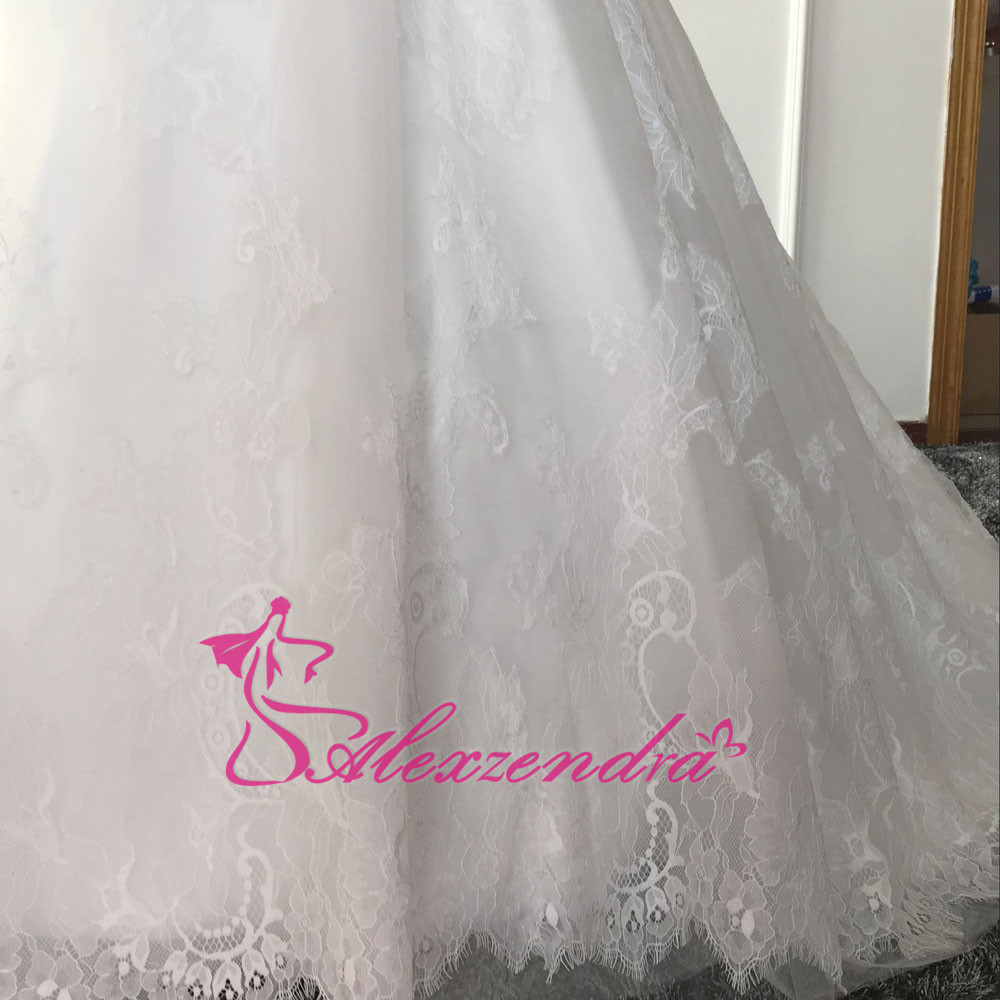 Real Photos Plus Size Wedding Dresses with Lace Removable Jacket Sweetheart  High Quality Bride Dresses Vestido Robe De Mariage-in Wedding Dresses from  ... 007649e9dbd2