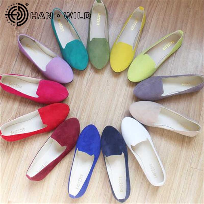 Vrouwen Flats 2019 Vrouwen Schoenen Candy Kleur Vrouw Loafers Lente Herfst Platte Schoenen Vrouwen Zapatos Mujer Zomer Schoenen Maat 35-43