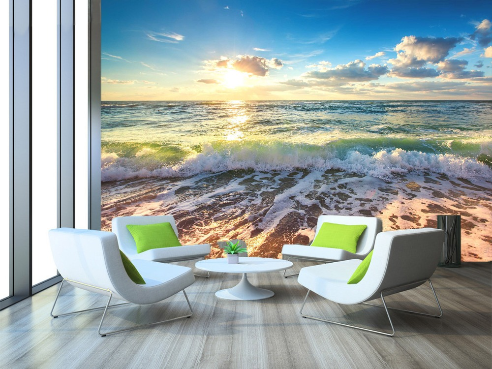 [Self-Adhesive] 3D  Surf Beach Sunset 82 Wall Paper Mural Wall Print Decal Wall Murals
