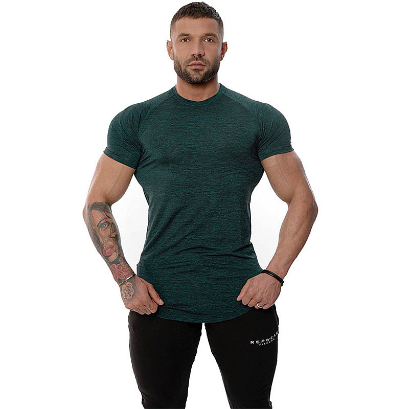 Summer new product muscle men Fitness brand T-shirt Crossfits gyms Bodybuilding Slim Shirts O-neck Short sleeves Tee Tops