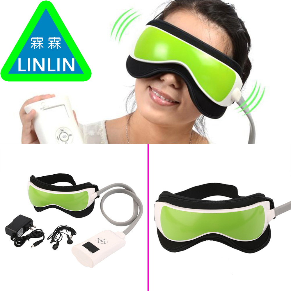 LINLIN Gustala Air pressure Eye Care Massager With MP3 6 Functions Dispel Eye Bags Eye Magnetic Far Infrared Heat free shipping kiki new air pressure eye massager with mp3 6 functions dispel eye bags eye magnetic far infrared heating eye care