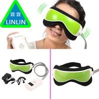 Linlin gustala ojo presión del aire Cuidado masajeador con MP3 6 funciones ojos disipar Bolsas ojo magnético calor infrarrojo lejano envío libre