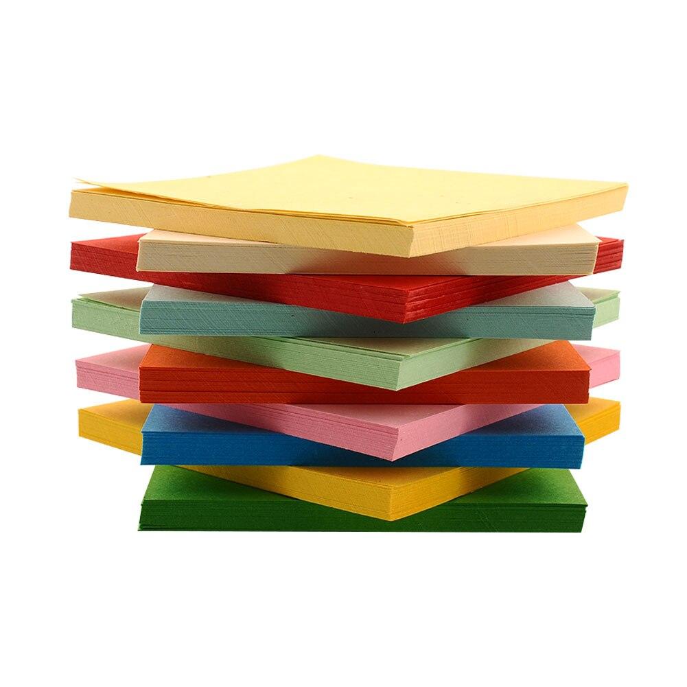 Jesjeliu 100pcs 10x10cm mix color square double sided for Colour paper craft