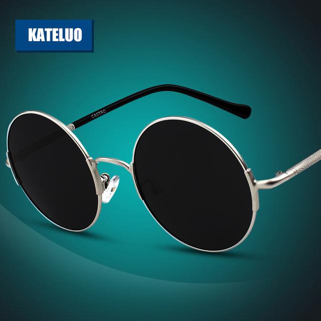 Kateluo rodada óculos Unisex Retro Polarized Lens motorista homens / mulheres do Vintage óculos de sol ao ar livre moda Eyewears acessórios