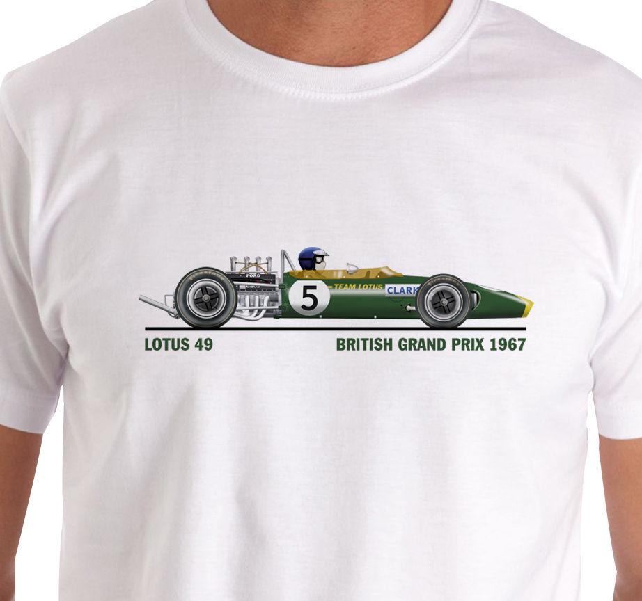 2018 Hot Sale 100% Cotton Raceart Lotus 49 1967 British Grand Prix T ...