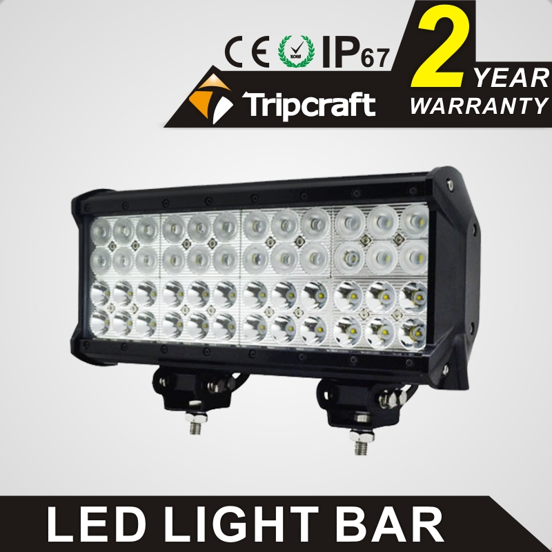 TRIPCRAFT 144W LED WORK LIGHT BAR Quad Row Spot flood combo beam car driving lamp for offroad 4x4 truck ATV SUV fog lamp 12inch