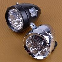 DWCX Nieuwe 7 LED Vintage Fiets Voor Head Fog Lamp Licht Retro Bike Scooter Koplamp Waterdichte Metalen Batterij