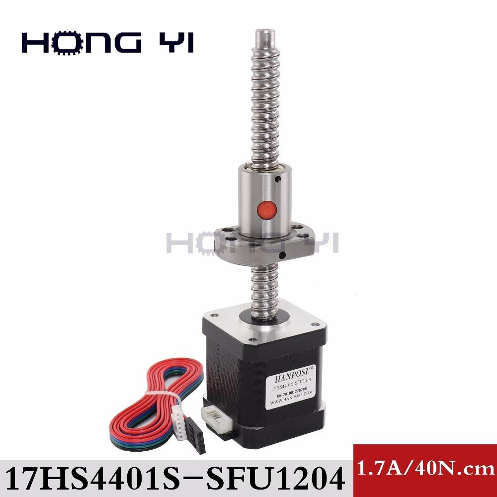 Nema17 ball screw Stepper Motor 42 motor 42BYGH 1 7A motor ball screw SFU1204 for CNC