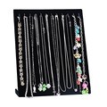 Fashion 1PC Black Velvet Necklace Display Stand Bracelet Chain Jewelry Display Holder Stand