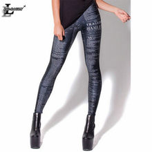 bc96df59fd3 New Design Fashion Gothic Popular Hamlet Digital Print Black Leggings Sexy  Fitness Women Interest Creative Pants