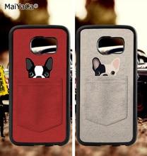 BFF french bulldog love couple soft TPU edge phone cases for samsung s6 plus s7 s8 s9 S10 lite e note8 note9 case