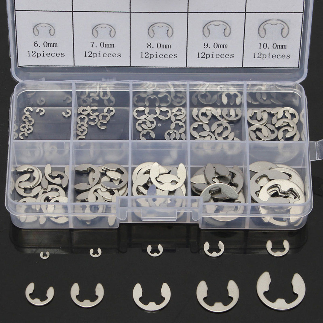 Ф15mm All Sizes Choice A2 Stainless Steel Clip Circlip E Type Circlips Ф1.5mm