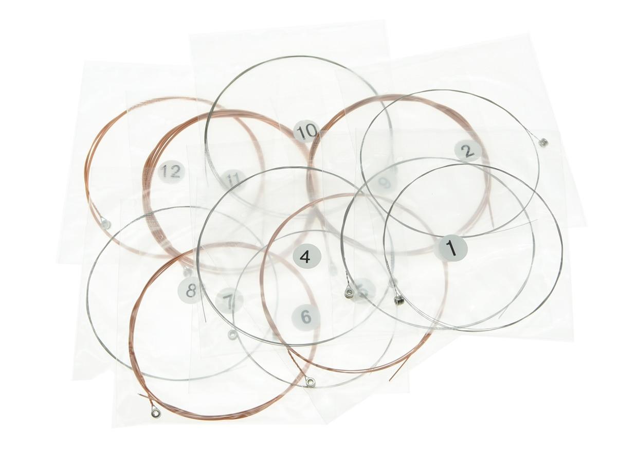 5 juegos de cuerdas de guitarra acústica folk de 12 cuerdas 1ra - Instrumentos musicales - foto 3