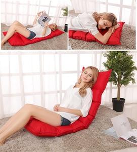 Image 1 - Lazy sofa single folding bedroom sofa creative tatami minimalist modern lounge chair living room