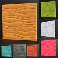 HOT Europe Style 3D Tinting Wall Stickers Simple Pure Colored Sound Insulation Wood Like PVC Wallpaper