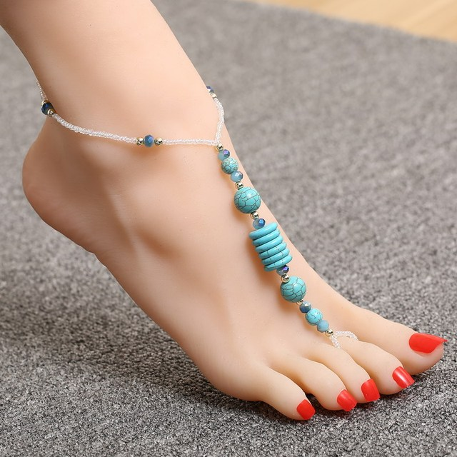 womens sandal for barefoot itm ankle jewelry anklet foot women coin bracelet chain gold beach