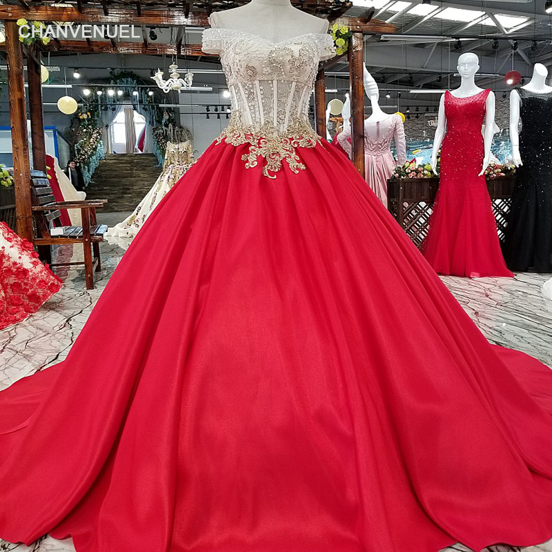 LS65871 color flowers red evening dress 2018 off shoulder lace up back party dress for lovely girl with beadings china wholesale