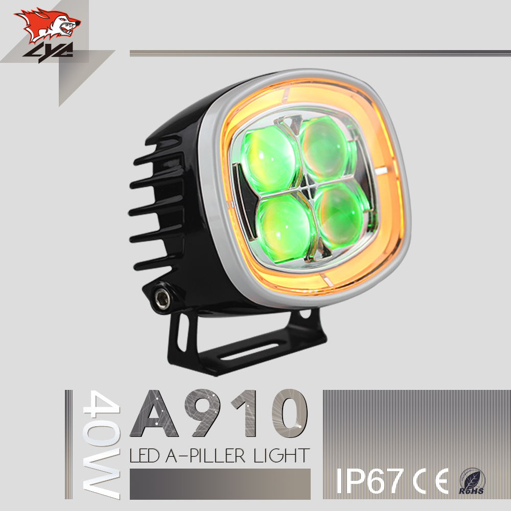 2 Pcs Free Shipping A910 For Toyota Lighted Emblems Jeep Wrangler Film Jk 40w Ip67 Led Headlights In China Maeket
