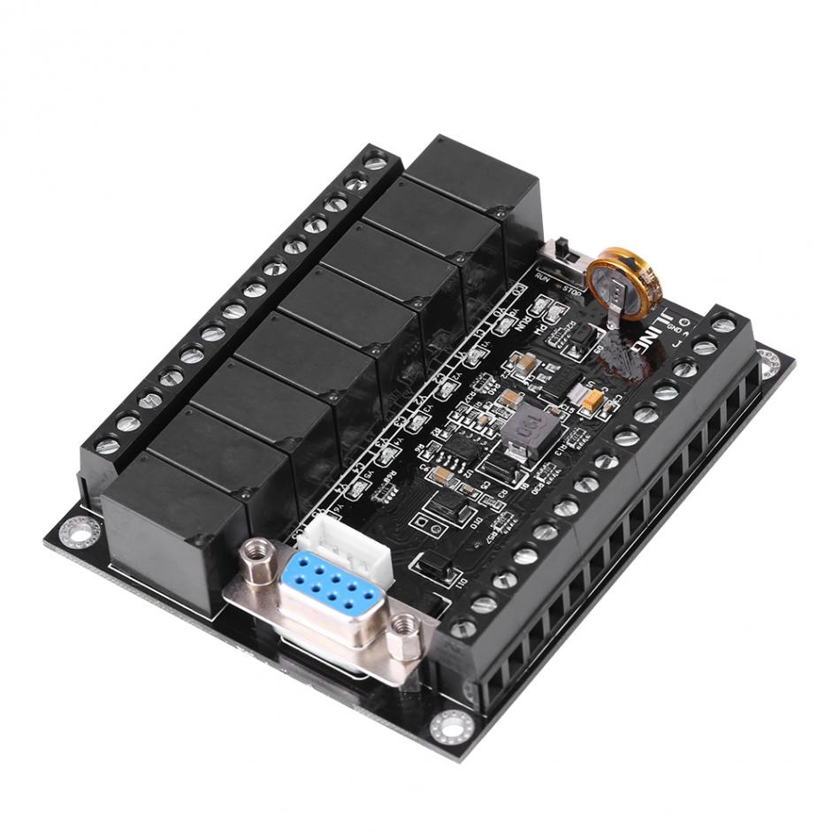 PLC Programmable Controller DC 24V PLC Regulator FX1N-20MR Industrial Control Board Programmable Logic Controller