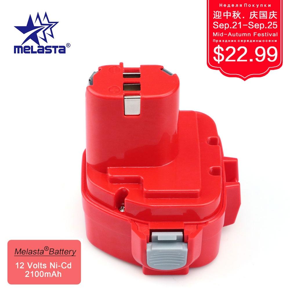 MELASTA 12v NiCd 2100mAh Battery Replacement Battery for Makita 1220 PA12 1222 1233S 1233SA 1233SB 1235 1235A 1235B 192598-2 аккумулятор makita 1222 12 0в 2 0ач nicd