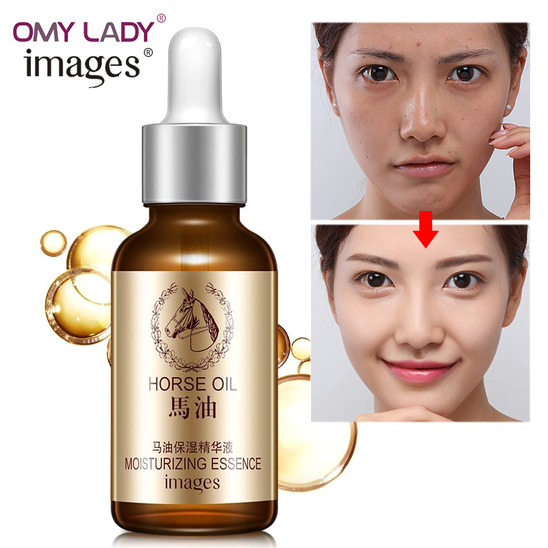Images Horse oil serum facial skin care anti-aging anti-wrinkle moisturizing shrink pores nourishing essence tender face cream игра набор юного краеведа прогулки из шкатулки санкт петербург