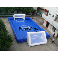inflatable football court for kids,professional soap football field with floor,Inflatable Football soccer Pitch Sport Arena
