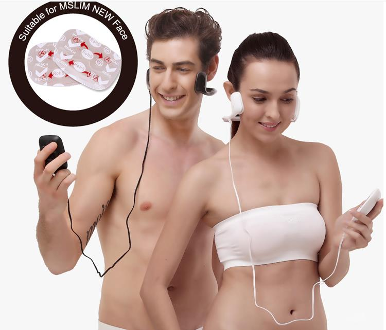 Eco-friendly Face Gel Pad  Replace Unisex Pads Self Adhesive Electrodes For  face massager device автозагар lancaster self tanning melting delight for face