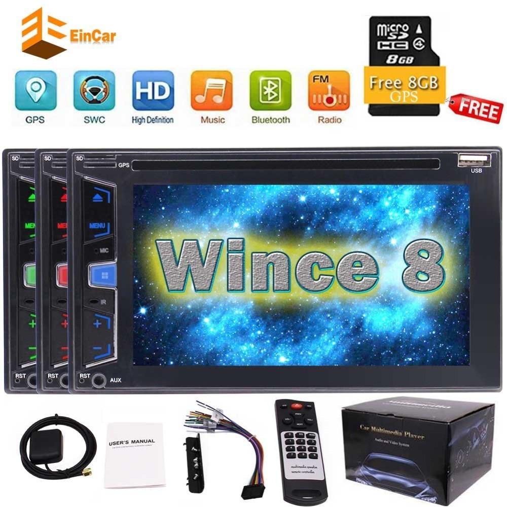 Double Din Car Automotive DVD GPS Navigation 6.2''Car Auto Audio Stereo Radio GPS Bluetooth USB/SD Player 1080P Radio Capacitive