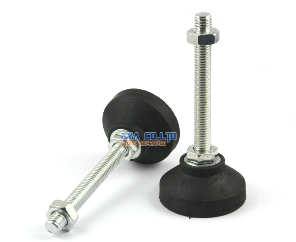 4 pieces m10 x 80mm adjustable lathe leg furniture leveling feet pad 50mm base in casters from. Black Bedroom Furniture Sets. Home Design Ideas