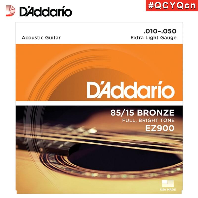 D Addario Daddario EZ900 American Made 85 15 Bronze Acoustic Guitar Strings Extra Light 10 50