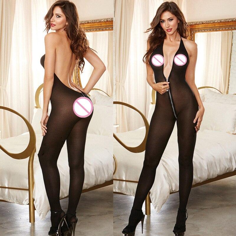 Женское боди с чулками, сексуальное нижнее белье черного цвета с v-образным вырезом и открытой спиной, костюм из латекса