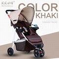 Специальное предложение 2016 Детская коляска зонтик автомобиль ультра-легкий портативный складной ребенок тележка три колеса коляски