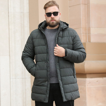 Autumn and Winter New Cotton Jackets Fashion Casual Mens Warm Outwear High Quality Overcoats Size L-8XL