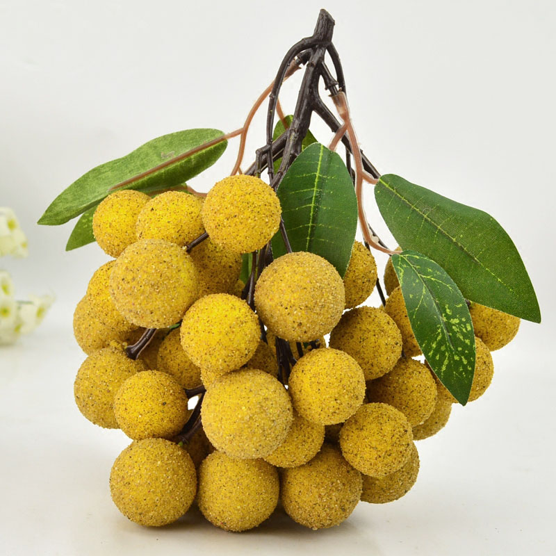 050 Imitation fruit string fake fruit model cabinet accessories simulation longan string longan fake longan in Artificial Foods Vegetables from Home Garden
