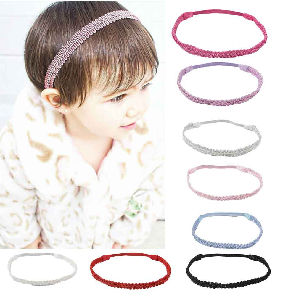 Yundfly Fashion Kids Girl Headband Weave Hair Accessories for Girls Infant Elastic Hair Band Photography Props