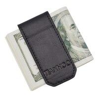 Brand Money Clip Wallet Slim Men And Women Vintage Strong Magnet Money Clip Cow Genuine Leather