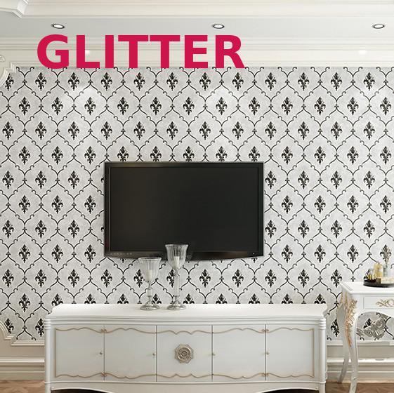 Européen 3d stéréo Relief salon papier peint noir et gris fleur papiers muraux décor à la maison garçons chambre papier peint rouleau