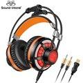 G6s sound intone som surround virtual gaming headset com microfone fone de ouvido com fio led vibração para pc portátil ps4